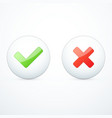tick and cross icons vector image vector image