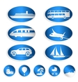 Travel labels logos and stickers vector image vector image
