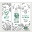 Tropical Fruits Sketch Vertical Banners vector image