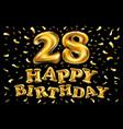 twenty eight years birthday celebration logotype
