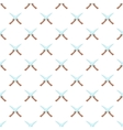 Two knives pattern cartoon style vector image vector image