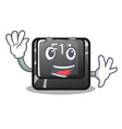 waving f11 button in character shape vector image vector image
