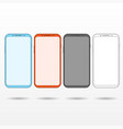 white mobile phone vector image vector image
