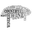 wine country travel tips text word cloud concept vector image vector image