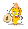 with money bag cashew character cartoon style vector image vector image