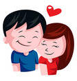 young couple in love on white background vector image