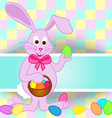 Easter bunny card vector image