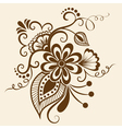 Ethnic Mehndi Floral Pattern vector image