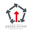 penta arrow design element symbol icon vector image