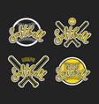 emblem of softball