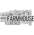 a farmhouse holiday florence style text word vector image vector image