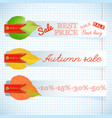 abstract seasonal sale floral horizontal banners vector image vector image