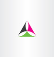 abstract triangle logo business geometry symbol vector image vector image