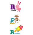 alphabet letter - R vector image vector image