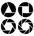 aperture camera lens symbol pictogram in 4 vector image