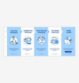 at-home facial treatment procedures onboarding vector image vector image