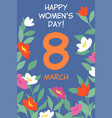 banner to international womens day vector image vector image
