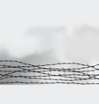 barbed wire fencing fence made wire vector image