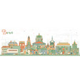 bern skyline with color buildings vector image vector image