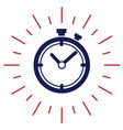 best time symbol on white background flat vector image