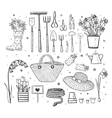 Big set of hand drawn sketch garden elements vector image vector image