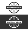 bike shop logo vector image