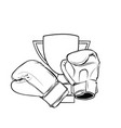 boxing gloves isolated on white background design vector image