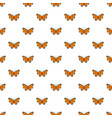 bright butterfly pattern seamless vector image vector image