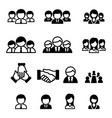 business team staff icon vector image vector image