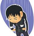 Cartoon of Sad Boy vector image vector image