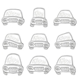 cartoon set cars contours vector image