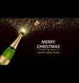champagne explosion with golden spatters and vector image