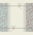 creative lace frame with flowers and leaves vector image vector image
