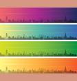 doha multiple color gradient skyline banner vector image vector image