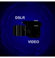 DSLR Video Camera vector image