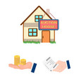 e-commerce and business cartoon icons in set vector image