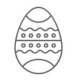 easter egg thin line icon decor and easter vector image vector image