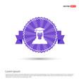 education user icon - purple ribbon banner vector image