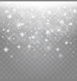 falling snow effect isolated on transparent vector image