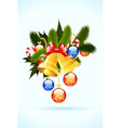 fir-tree bell decoration vector image vector image