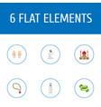 flat icons ramadan kareem palm arabian and other vector image