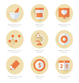 Flat icons set of medical tools and health care vector image