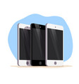 flat smartphone isolated cartoon style modern vector image vector image