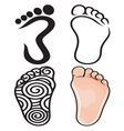 Foot collection resize vector image vector image