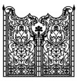 forged iron gate vector image vector image