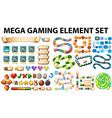 Game elements and template vector image vector image