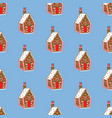 gingerbread house pattern vector image vector image