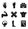 graduate school icons set simple style vector image vector image