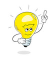 have idea light bulb concept cartoon personage vector image