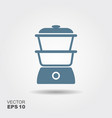 kitchen steam cooker icon in flat style isolated vector image vector image